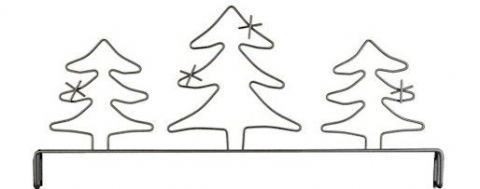 Header Evergreen Trees Gray 12in